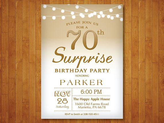 25 best 70th Birthday Invitations trending ideas – 70th Surprise Birthday Party Invitations