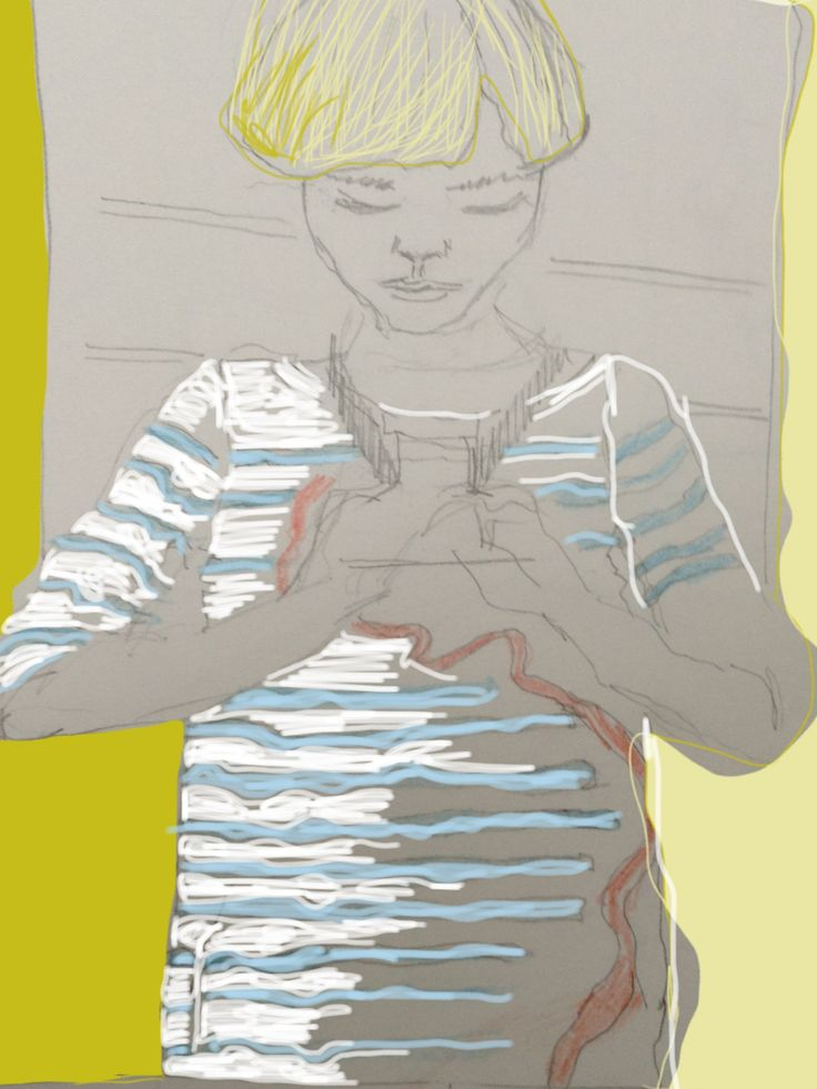 Striped T-shirt - Sketching on Ipad