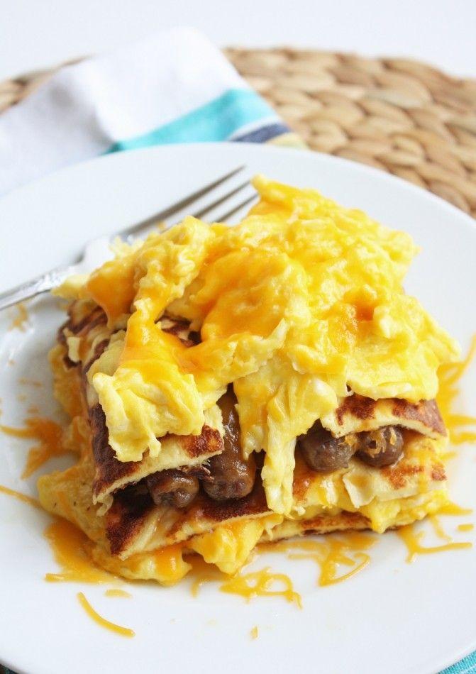 Breakfast Lasagna Shared on https://www.facebook.com/LowCarbZen | #LowCarb #Breakfast