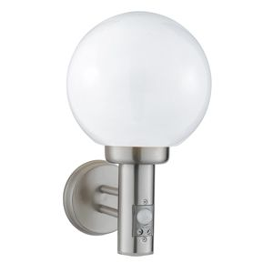 7 best elegant outdoor lighting images on pinterest 085 globe outdoor wall light complete with sensor stainless steelpolycarb globe minimum height 330mm maximum height 330mm width diameter 200mm mozeypictures Image collections