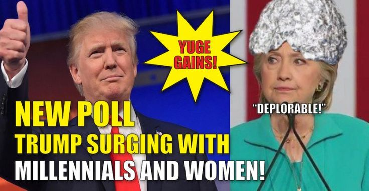 BREAKING : NEW LA TIMES POLL – TRUMP SURGING with MILLENNIALS and WOMEN…