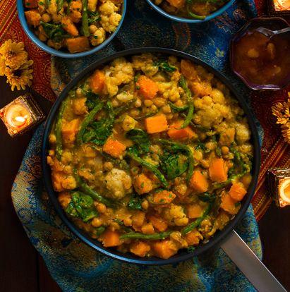 Curry aux pois chiches et à la courge musquée