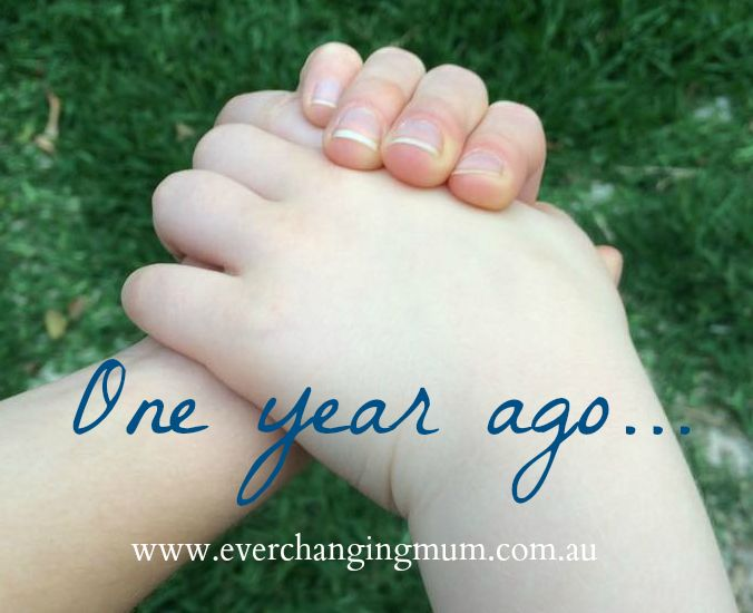 One year ago Ever-changing Life of a Mum