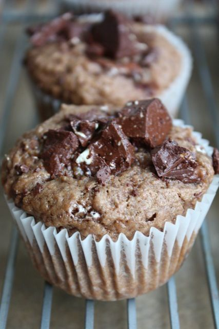 Toblerone Muffins!  Or an excuse to eat candy bars for breakfast!