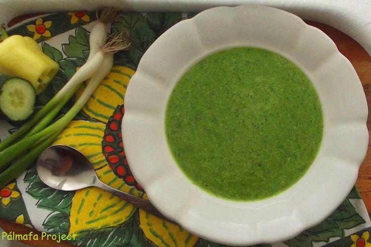 Hideg, krémes zöldségleves főzés nélkül
