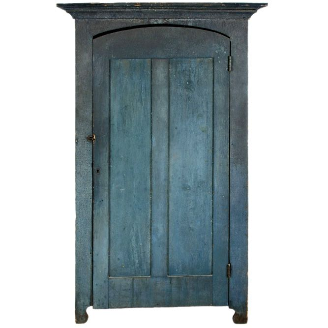 1880 blue painted cupboard