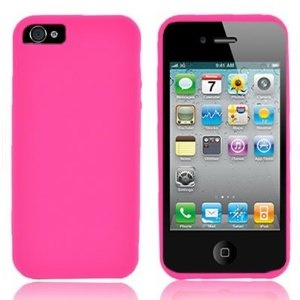 WIRELESS CENTRAL Brand Soft Silicone HOT PINK Skin Cover Case for APPLE IPHONE 5 ATT [WCF688] $1.49