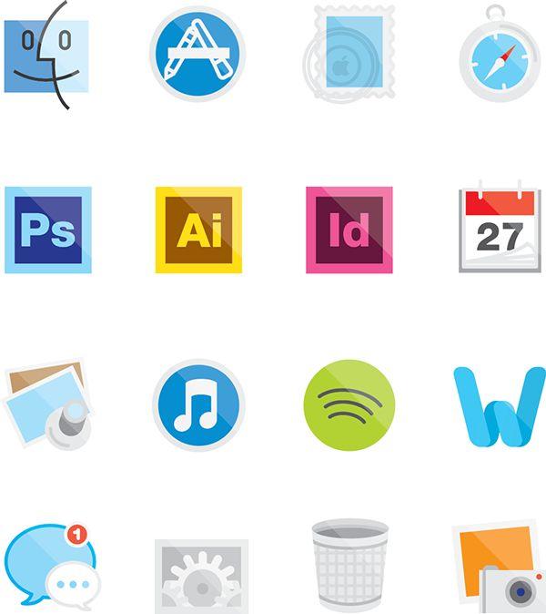 My Desktop Icons - Free Download on Behance