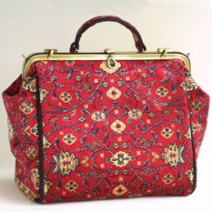 New Gladstone Bag in Red Herat Carpet