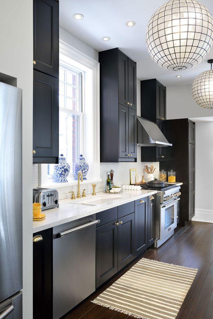 Al al alno kitchen cabinets chicago - Kitchens With Black Cabinets Pictures And Ideas