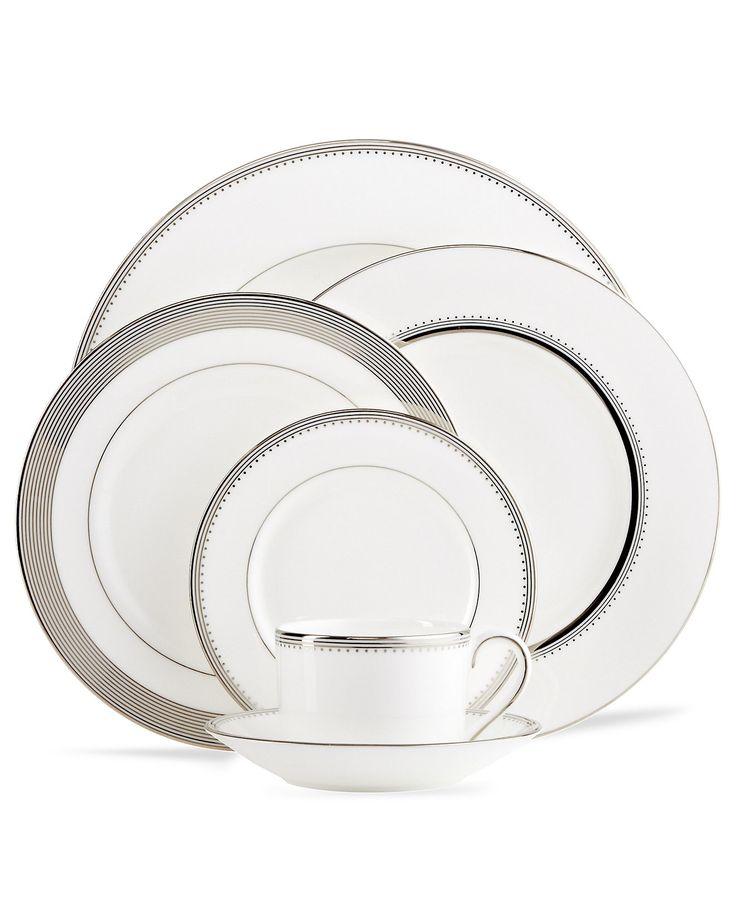 Vera Wang Wedgwood Dinnerware, Grosgrain Collection - Dinnerware - Dining & Entertaining - Macy's
