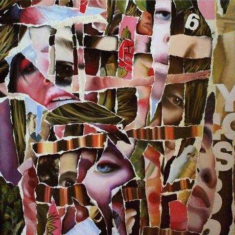 Zsuzsi Csiszer - EachOther- oil on canvas, 120 -120 cm