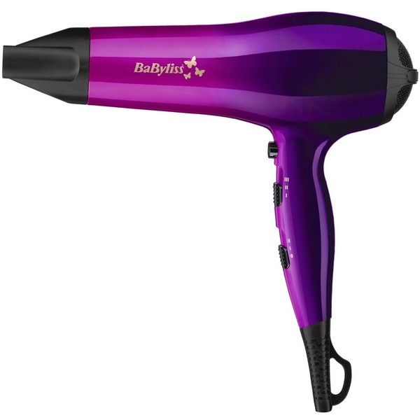 Babyliss 5737Bu Ombre 2000-Watt Hairdryer ($39) ❤ liked on Polyvore featuring beauty products, haircare, hair styling tools, blow dryers & irons, beauty, electronics, babyliss, hair blow dryer, blow dryer and babyliss blow dryer