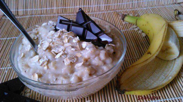 Banános-csokis zabkása