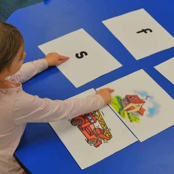 INSTRUCTION: This activity uses letter-sounds and pictures of objects to focus student's attention on the sounds heard in words. Students are given letter-sounds and are asked match the it to the sound they hear in the beginning, middle, or end of the word. I think this is an effective phonemic awareness activity as students need to stretch out the words in order to hear all of the individual sounds and decide if they match their target letter-sound.