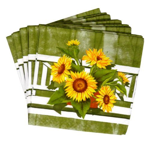 High Quality 20 x Paper Napkin in 5 Design for Party BBQ Picnic in Sunflower Silver Square http://www.amazon.co.uk/dp/B008H2X9QK/ref=cm_sw_r_pi_dp_l0tlvb0X0AE55