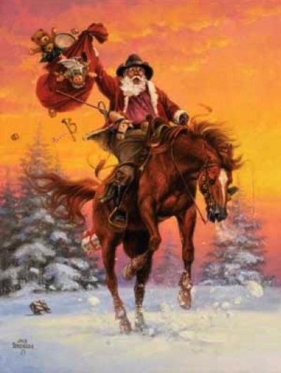 Horse with Christmas Spirit by Jack Sorenson