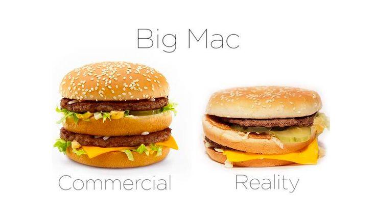 McDonald´s real VS advertising