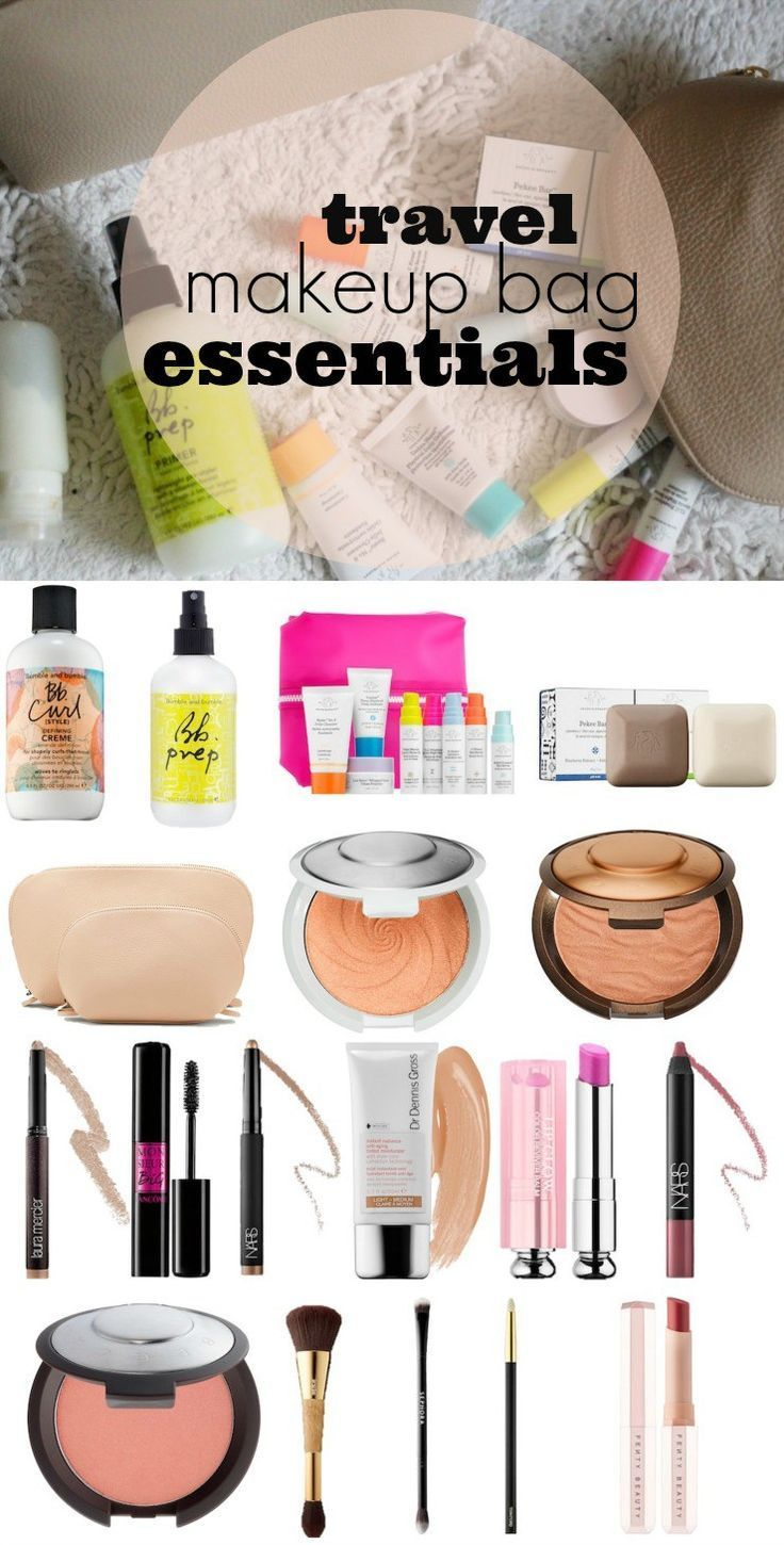 c450de74930b travel makeup bag essentials, everything I am packing in my cosmetics bag  to travel. #traveltips #packinglist