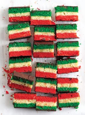 Rainbow Cookies: switch up the food coloring to change the colors!