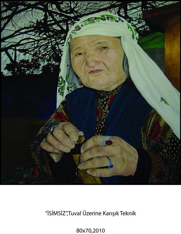 Afgan kadını,karışık teknik,yağlı boya,picture