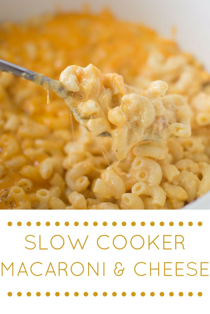 The Perfect Four Cheese Slow Cooker Macaroni and Cheese. No overcooked pasta noodles with this recipe!
