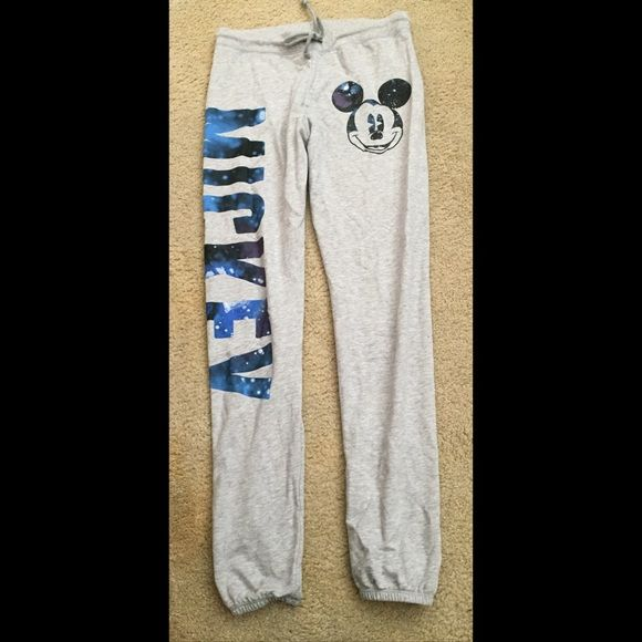 Mickey Mouse Sweatpants These have been worn maybe once or twice. They have an elastic band at the bottom by the ankles. In great/perfect condition! Forever 21 Pants