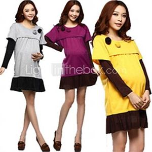 2014 New Fashion Spring and Autumn Maternity Clothing Nursing Dress Long-sleeve