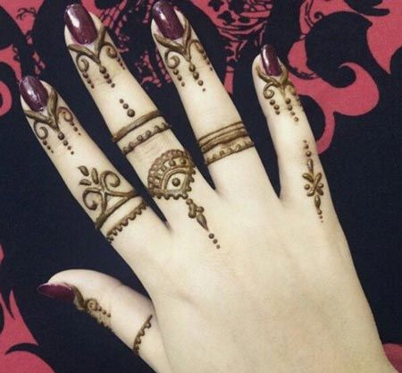Front Fingers Simple and Easy Henna Mehndi Designs Images ...