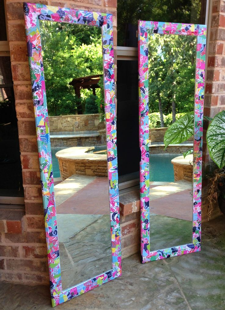 Lilly Pulitzer modpodged mirrors!                              …                                                                                                                                                                                 More