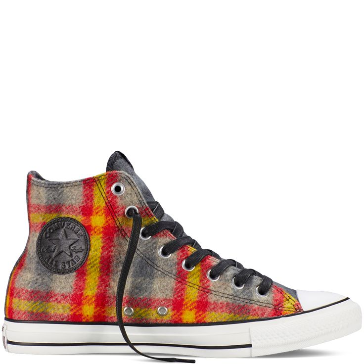 Give Woolrich warmth and Chuck Taylor style