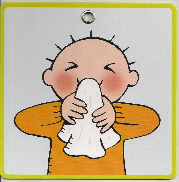 stappenplan neus snuiten: stap 3: blaas door je neus in de zakdoek.