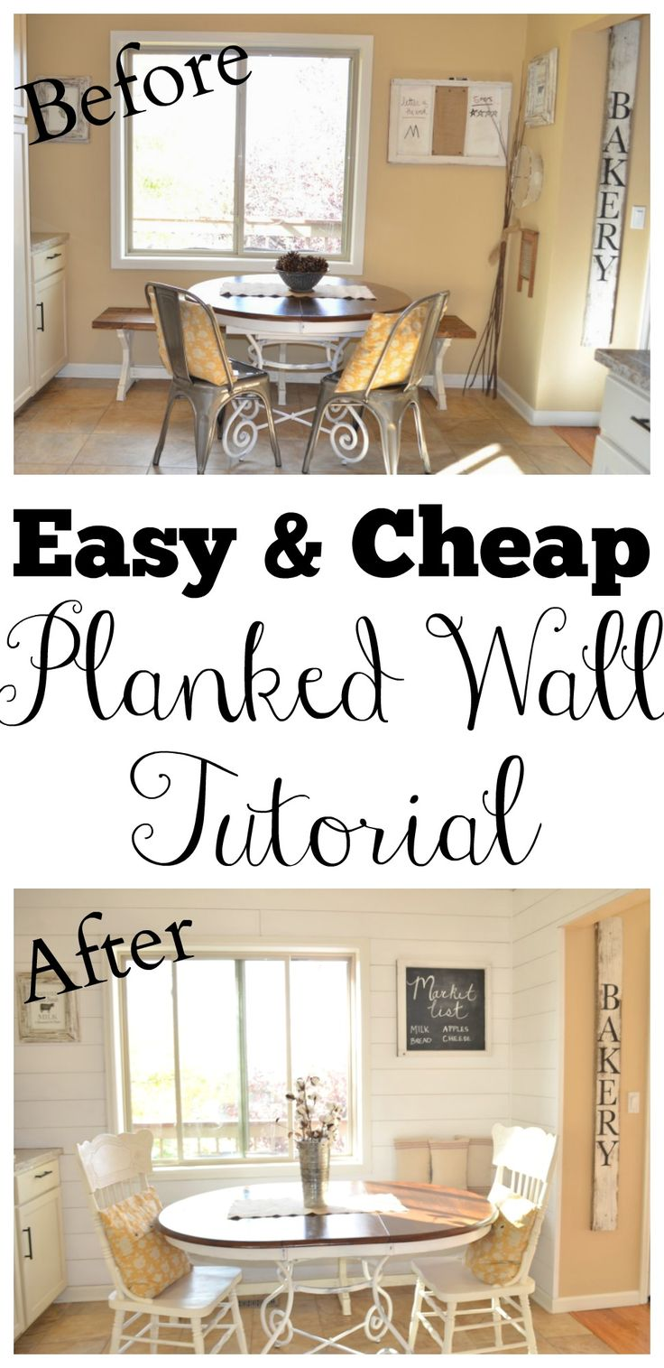 Easy and Cheap Planked Wall Tutorial