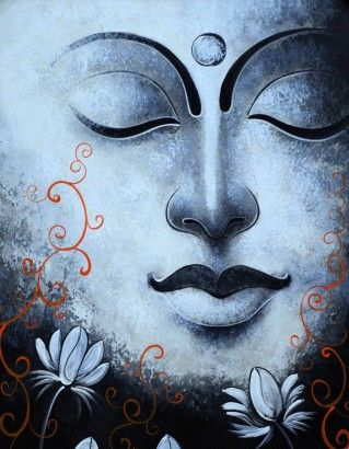 """""""A kind gesture can reach a wound that only compassion can heal.""""    ~ Steve Maraboli  * Arts N You - Gautam Buddha Face Painting.   <3 lis"""