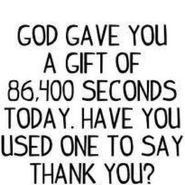 Thank You Father!