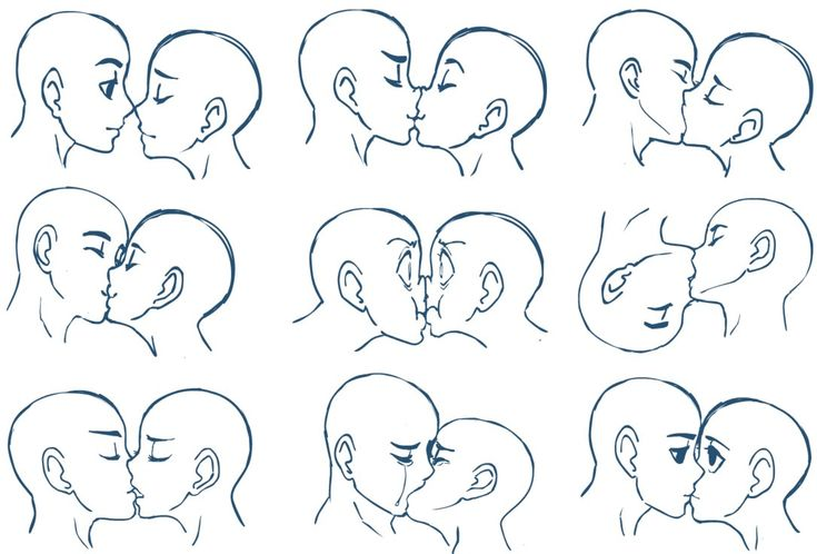 ~kissing tutorial~ human head person face kiss romance love