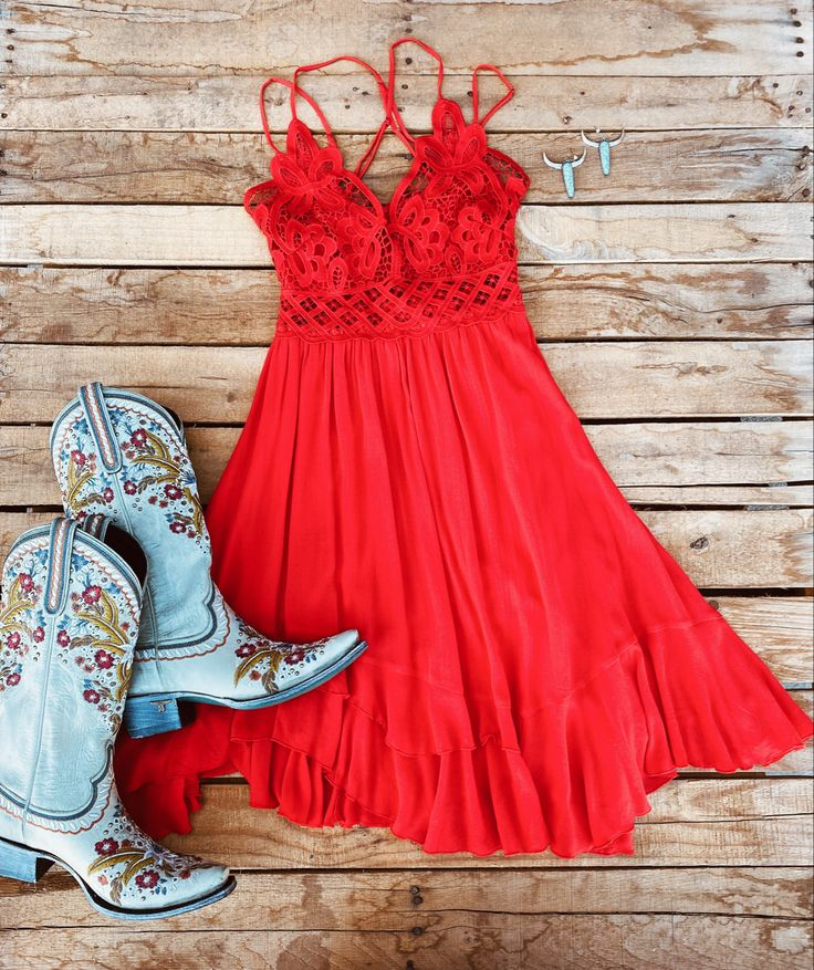 Double The Love Dress - Red– Southern Fried Chics
