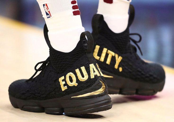 """#sneakers #news LeBron James Starts 2017-2018 NBA Season With Nike LeBron 15 """"Equality"""" PE"""