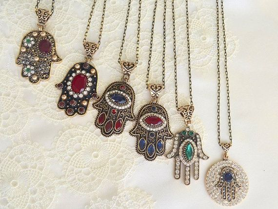 50% SALE BRONZE HAND kaballah necklace hand of by TURKISHNAZAR