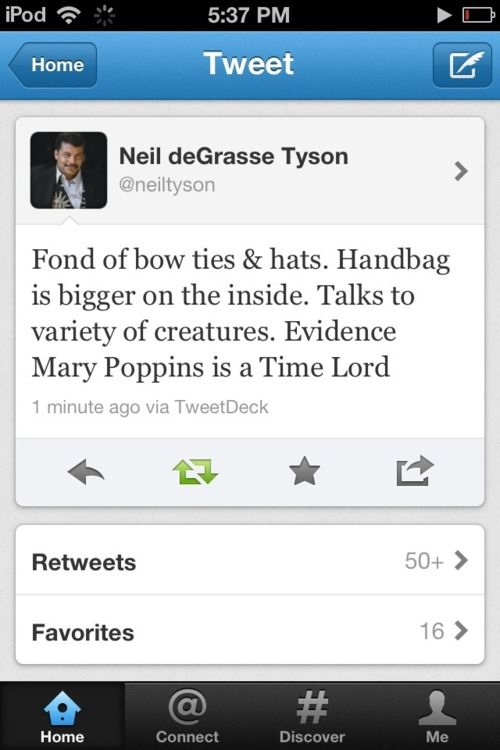 Mary Poppins: Expert Nanny & Time Lord.Time Lord
