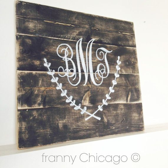 OLD WOOD SIGN  Reclaimed Wood SIgn Vintage Wood by FrannyChicago, $69.99