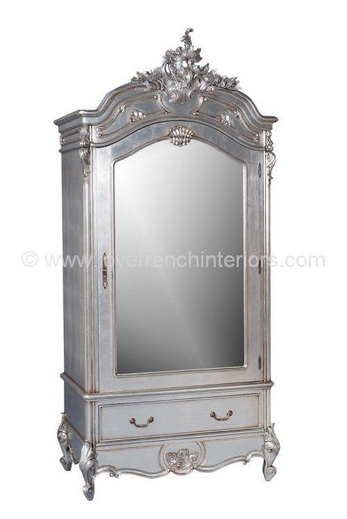 8 best french wardrobe images on pinterest armoires for Single french door for bedroom