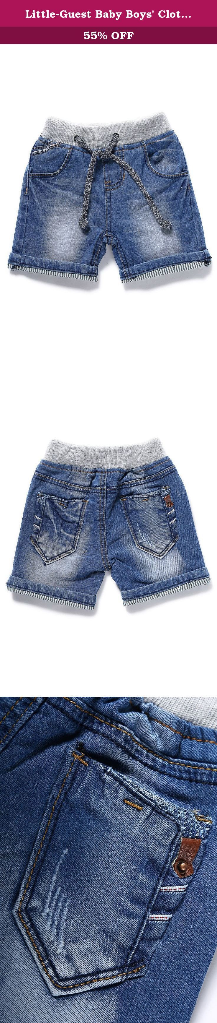 """Little-Guest Baby Boys' Clothes Blue Knee-Length Jeans Shorts B201 (6-9 Months, Light Blue). Pay attention to our Size Chart: 6-9 Months WAIST:48cm/18.7"""" HIP:54cm/21.1"""" BOTTOM:24cm/9.4"""" BODY LENGTH:24cm/9.4"""" 9-12 Months WAIST:50cm/19.5"""" HIP:56cm/21.8"""" BOTTOM:25cm/9.8"""" BODY LENGTH:25cm/9.8"""" 12-18 Months WAIST:53cm/20.7"""" HIP:59cm/23"""" BOTTOM:26.5cm/10.3"""" BODY LENGTH:26.5cm/10.3"""" 18-24 Months WAIST:54cm/21.1"""" HIP:60cm/23.4"""" BOTTOM:27cm/10.5"""" BODY LENGTH:27cm/10.5"""" 24-30 Months…"""