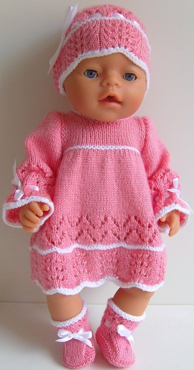Baby Born Doll Knitting Clothes