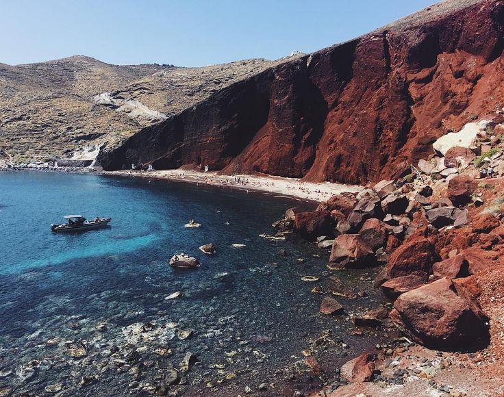 "LEILANI KRIENKE on Instagram: ""RED BEACH / SANTORINI #redbeach #santorini #beach #greece #travel #travelgram #honeymoon #explore #wanderlust #throwbackthursday #travelpic…"""