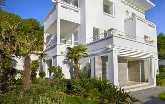 Art deco villa with private beach in Cap D'Antibes, Cote D'Azur, south east France