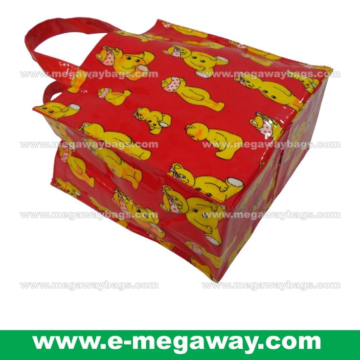 #Small #Tote #Full #Print #PVC #Coated #Water-Repellent #Student #School #Boys #Lunch #Box #LunchBag #Kit #Bag #Kids #Children #Girls #Teenager #Red #Art #Cartoon #Bear #MegawayBags #Megaway #MegawayBags #CC-1543 on Carousell