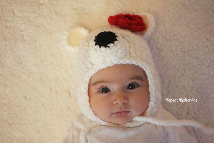 Свяжите своему ребенку оригинальную шапку крючком. Такой точно ни у кого не будет! Схемы вязания шапок Полярный мишка на разные размеры головы опубликованы в данной статье.