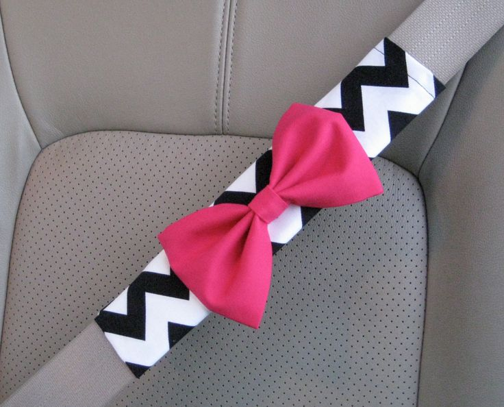 Custom Seatbelt Cover with Matching Bow by BeauFleurs on Etsy, $20.00