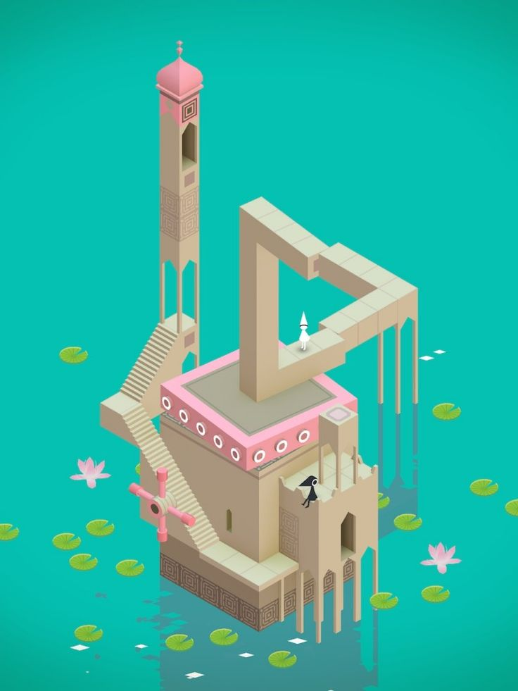 Penrose Impossible Triangle in Monument Valley Game